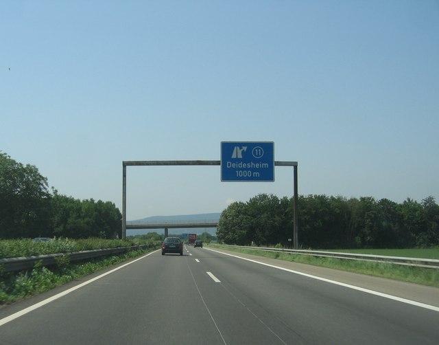 (A65) Deidesheim kreuz 11 - 1000 m