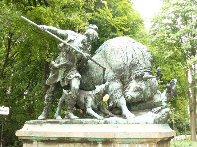 Jagdstatue, Tiergarten
