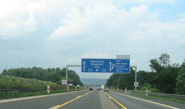 Autobahnkreuz A3/A560 bei Bonn