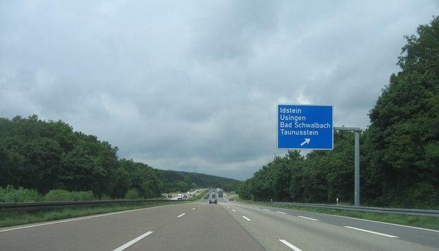 Autobahnkreuz A3 bei Idstein