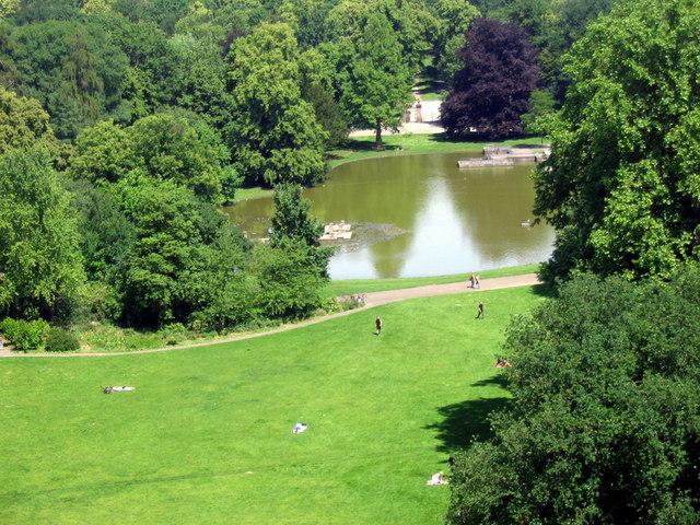 Teich im Karlsruher Schloßpark