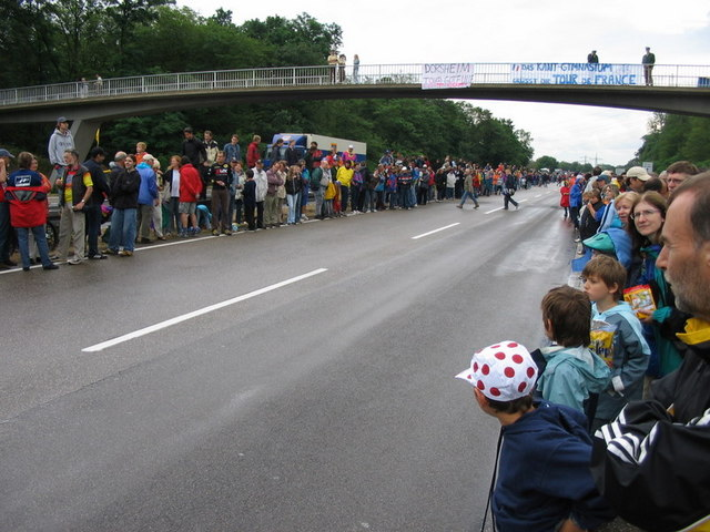 Tour de France 2005 in Karlsruhe an der L605