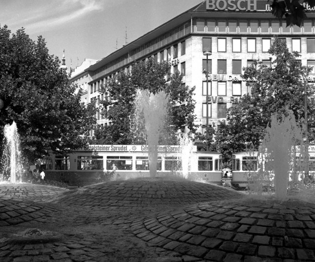 Fountains at Sendlingertorplatz