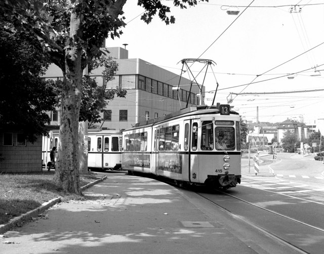 Tram on Route 13 at Feuerbach