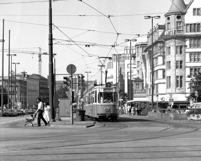 Trams outside Munich Hbf
