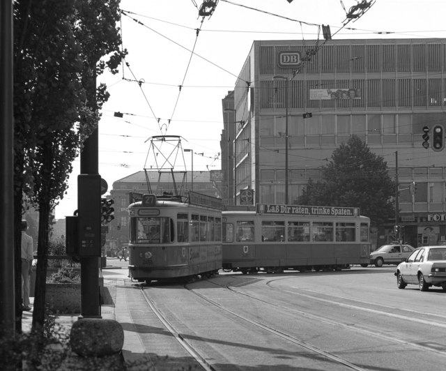 Trams in Central Munich