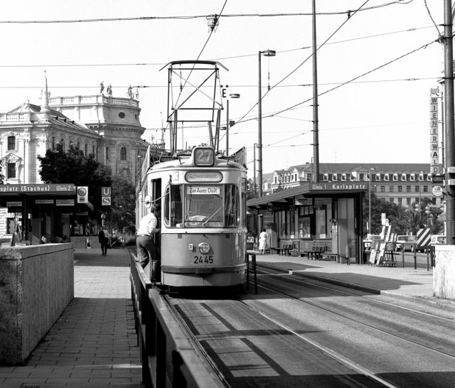 Tram at Karlsplatz