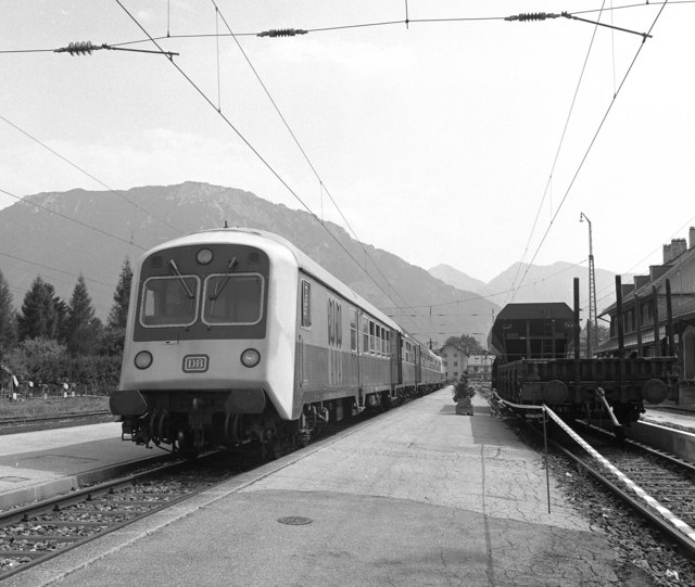 Electric train at Ruhpolding