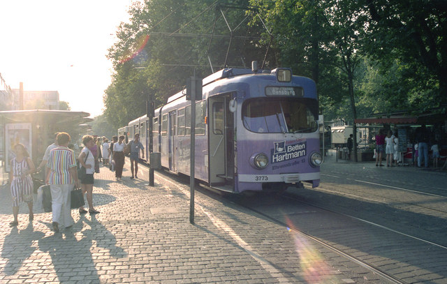 Tram on Route 1 at  Neumarkt