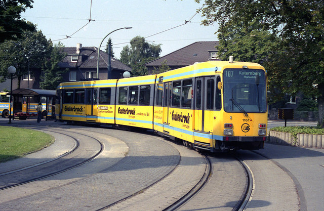 Essen tram at Bredeney