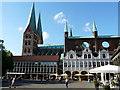 UPE1070 : Marktplatz und Marienkirche in Lübeck (Market Square and Marienkirche in Luebeck) von Udo und Joan Fugel