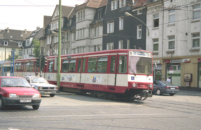 Stadtbahn car at Holsterhauserplatz