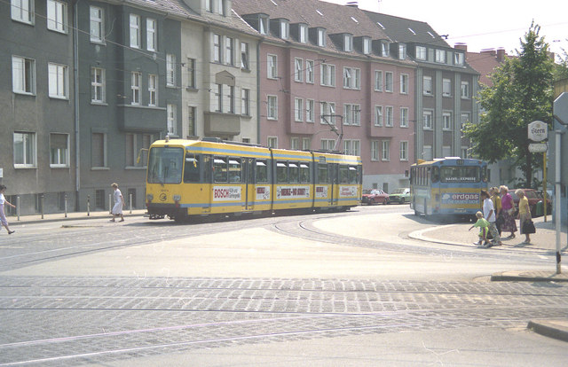 Tram at Holsterhauserplatz