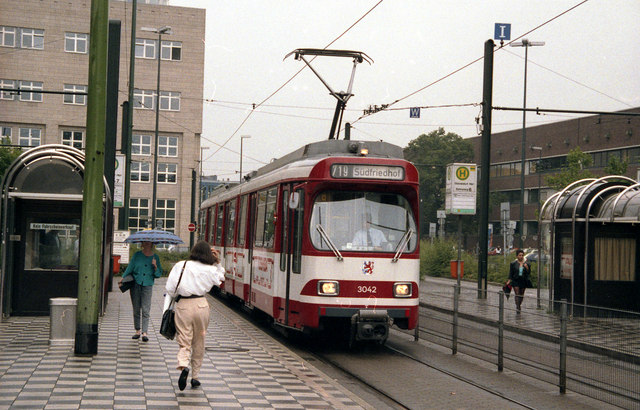 Tram outside Dusseldorf  Hbf