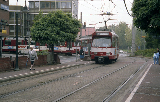 Trams outside Neuss Hbf