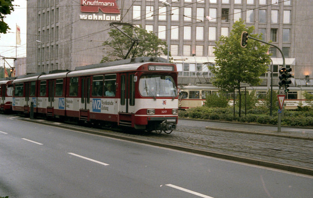Tram on Route 705 at Neuss Hbf