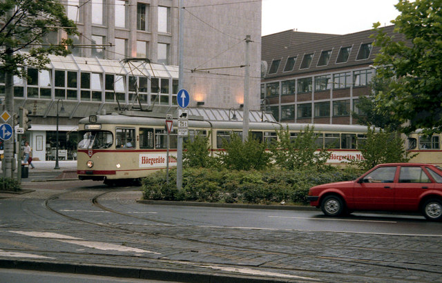 Tram at Route 709 turning circle, Neuss