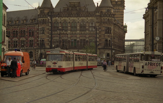 Tram on Route 3 in Bremen City Centre