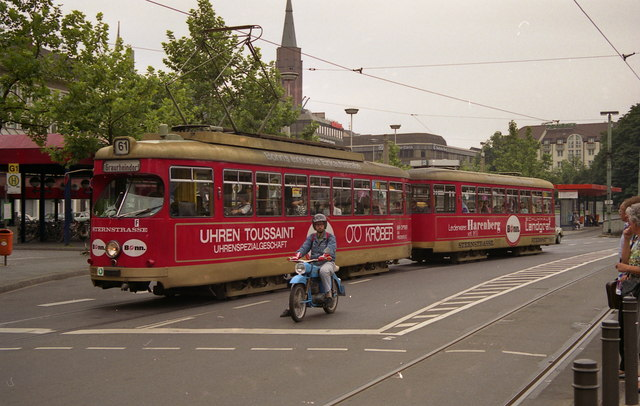 Route 61 tram outside Bonn Hbf