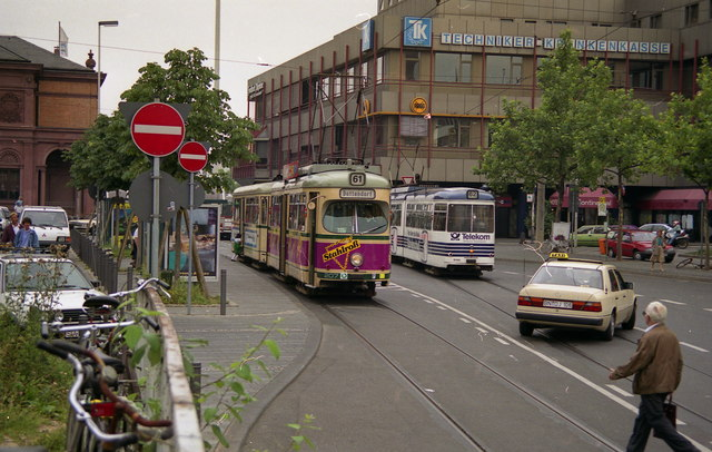Trams passing outside Bonn Hbf