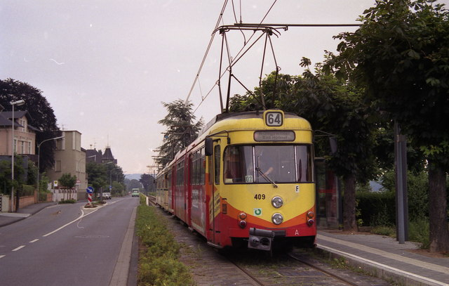 Tram at Konigswinter Denkmal