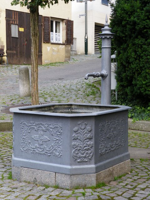 Trough and pump