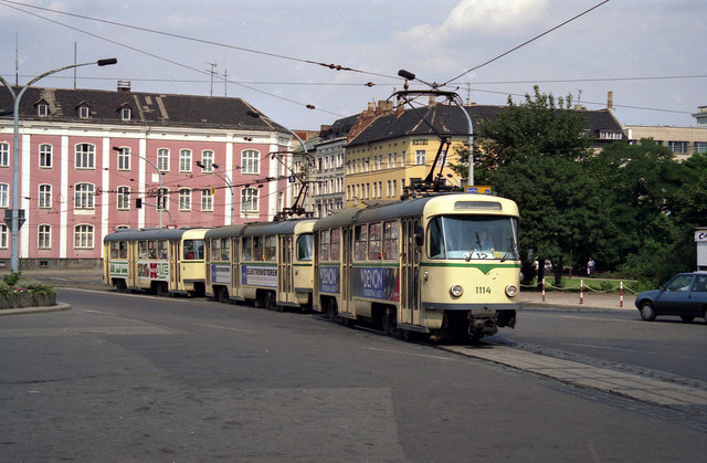 Trams in Magdeburg