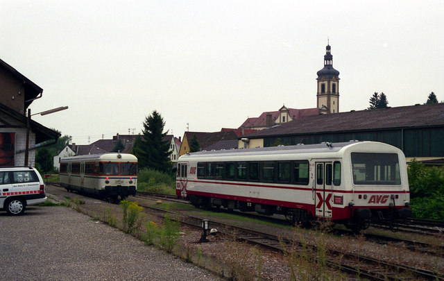 AVG railcars at Odenheim