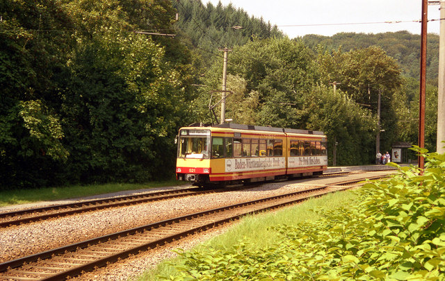 Albtalbahn car at Marxzell