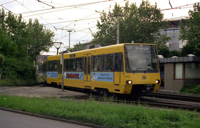 U-Bahn cars at Wilhelmsplatz, Bad Canstatt