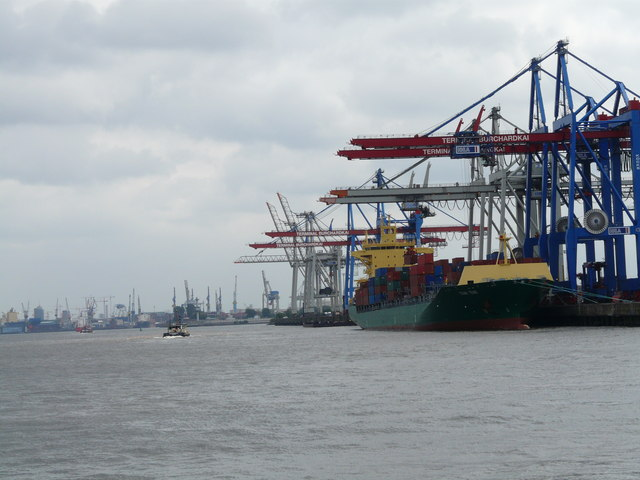 Hamburger Hafen - Container Terminal (Hamburg harbour - container terminal)