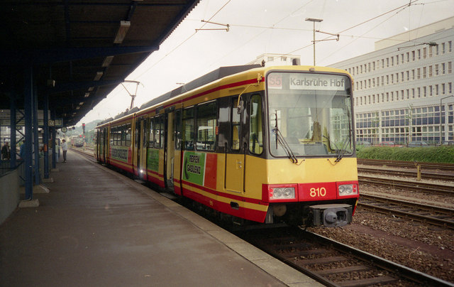 Electric light rail at Pforzheim