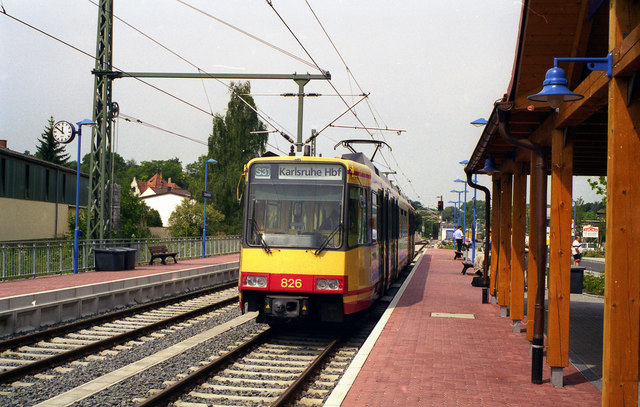 Stadtbahn car at Odenheim