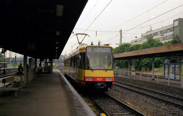 Stadtbahn car at Muhlacker