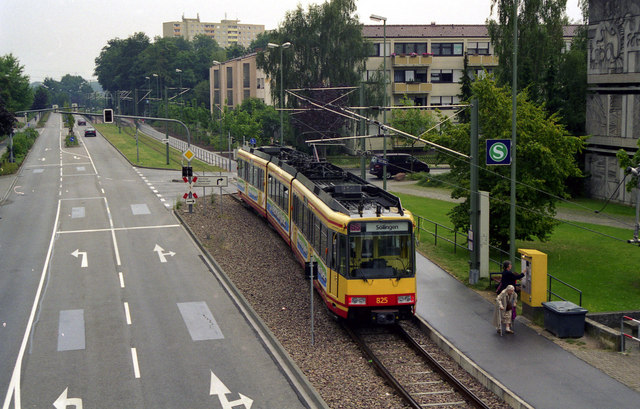 Stadtbahn car at Worth Rathaus