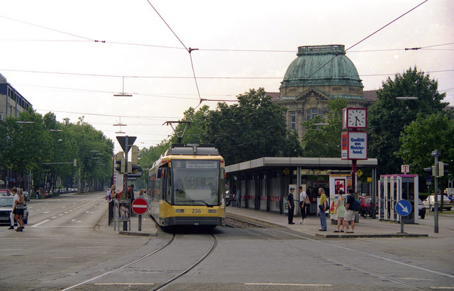 Tram at Muhlburger Tor, Karlsruhe