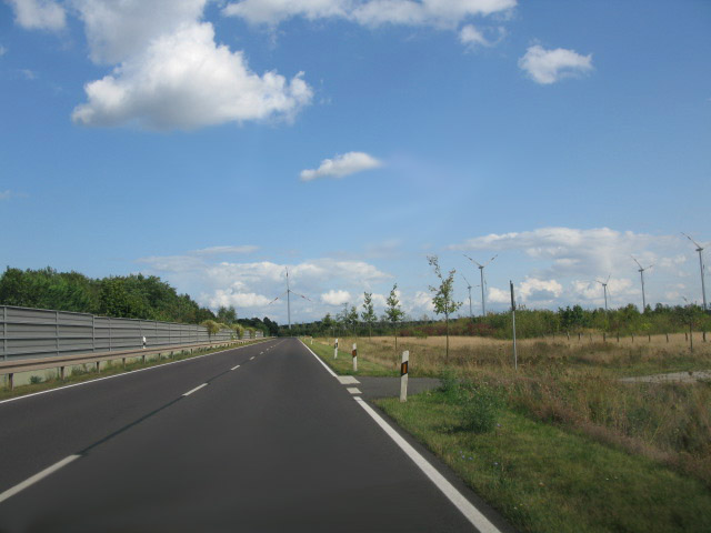View along Chausseestraße, road 1 to Burg
