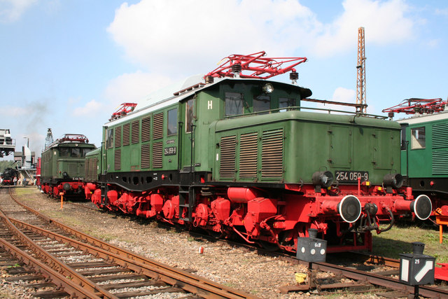 Vintage electric locomotives at Chemnitz