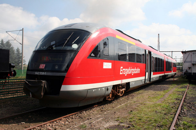 New diesel railcar at Chemnitz