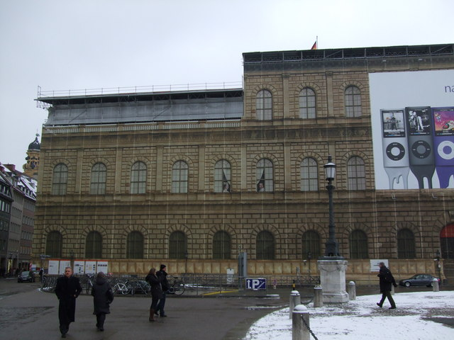 Facade on building site at Max Joseph Platz