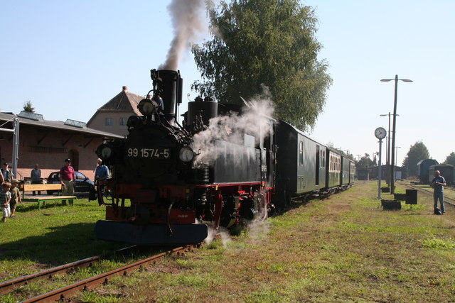 Doellnitzbahn:  Train at  Mugeln