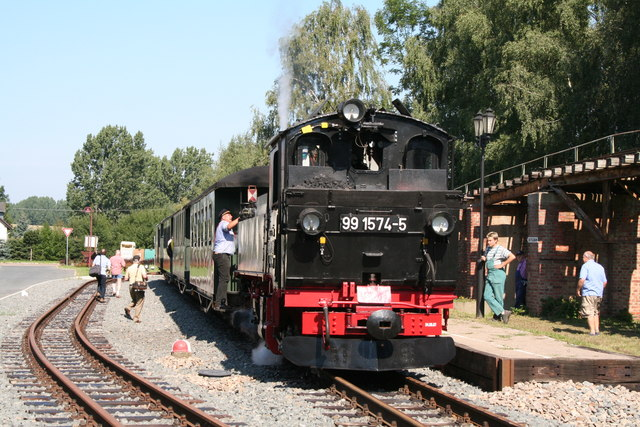 Doellnitzbahn train at Glossen
