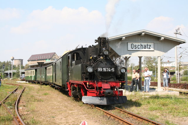 Narrow gauge train at Oschatz