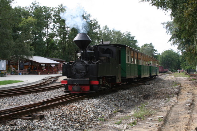 Schmalspurzug in Weißwasser (Narrow gauge train at Weisswasser)