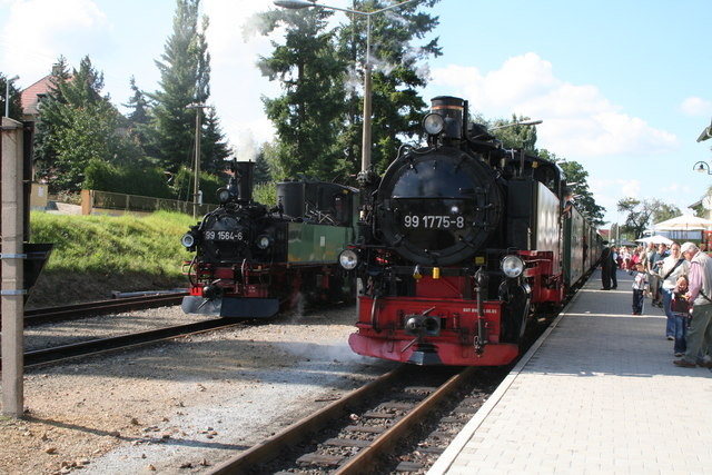 Two trains at Moritzburg