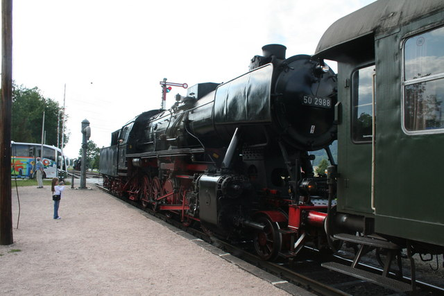Steam locomotive at Zollhaus-Bluberg
