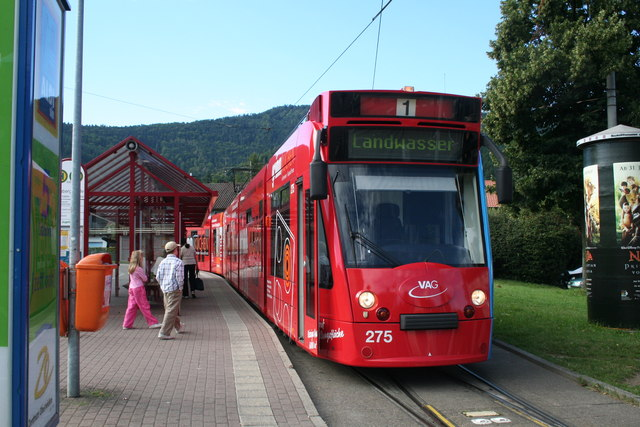 Freiburg:  tram at Littenweiler