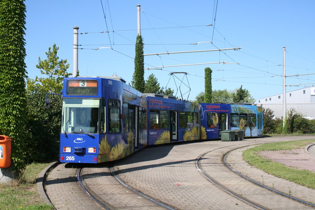 Freiburg: tram at Haid