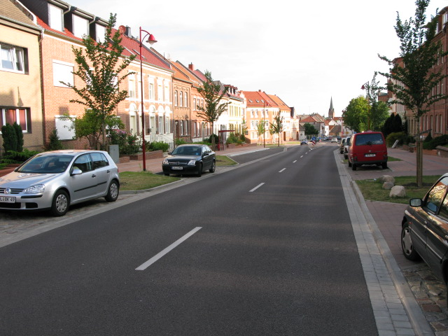 View along Magdeburger Chaussee, Burg