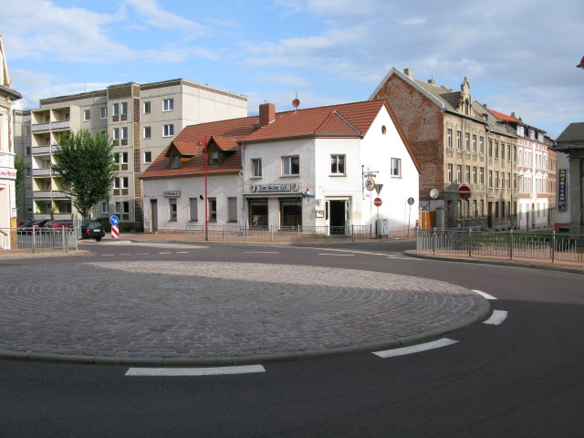 Roundabout on August-Bebel-Strasse and Magdeburger Chaussee